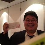 図書カードが当たり、満面の笑顔いただきました!